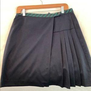 Brooks Brothers Red Fleece Wool Skirt